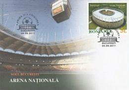 SPORT STADIUM ARENA NATIONALA 2011 COVER FDC, ROMANIA. - FDC