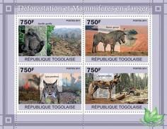 Togo 2011, Deforestation, Gorilla, Zebra, Felins, 4val In BF