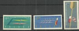 "Polen 1254-56B ""Internat. Kajakeurop-Meisterschaften,3 Briefmarken M. Abbildung Verschied. Kajaks"" Postfrisch Mi.:3,80 & - 1944-.... République"