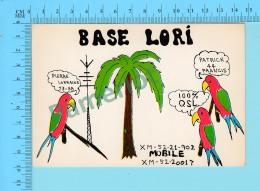 QSL- CB- Base Lori, Peroquets -   Rosemont Quebec- 2 Scans - CB
