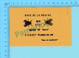 QSL- CB- Base De La Mouche -   Montreal Quebec- 2 Scans - CB