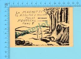 QSL- CB- La Marmotte  - St-Adolphe D'Howard Quebec- 2 Scans - CB