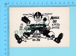QSL- CB- Mobile 99, Football Americain  - Montreal Quebec- 2 Scans - CB