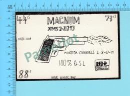 QSL- CB- Base Magnum , Revolver   -  Montreal Quebec- 2 Scans - CB