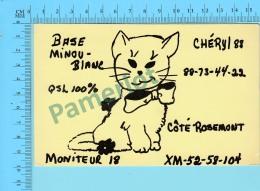 QSL- CB- Base Minou-blanc,   -  Rosemont Quebec- 2 Scans - CB