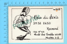 QSL- CB-  Base Du Génie, Aladin  - Pointe Aux Trembles Quebec- 2 Scans - CB