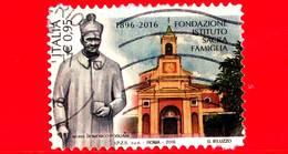 ITALIA - Usato - 2016 - 120 Anni Dell´Istituto Sacra Famiglia - Mons. Domenico Pogliani E Facciata - 0,95 €