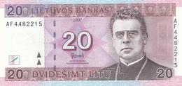 Lithuania 20 Litu 2007 - UNC - Lithuania
