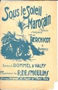 Partition  Sous Le Soleil Marocain Dommel Et Valfy R Desmoulins état Moyen - Scores & Partitions