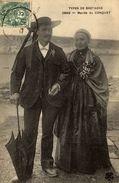 Types De Bretagne - Mariés Du Conquet - CPA  (voir 2 Photos) - Couples