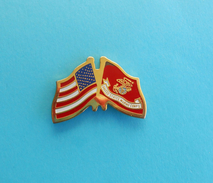 UNITED STATES - MARINE CORPS * Usa Flag US Navy Kriegsmarine Marines Marinesoldaten Infantería De Marina Pin Badge - Navy
