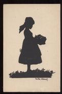 GERMANIA 1921 ILLUSTRATORE NON CLASSIFICATO - FANCIULLA CON CESTO PIENO DI FRUTTA. FORMATO PICCOLO (1) SILHOUETTE - Siluette