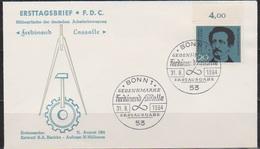 BRD FDC 1964 Nr.443 100 Todestag Ferdinand Lassalle ( D 4380 ) - BRD