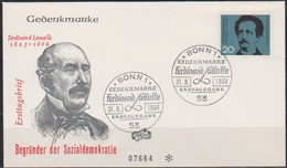 BRD FDC 1964 Nr.443 100 Todestag Ferdinand Lassalle ( D 4382 ) - BRD