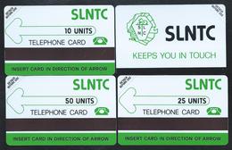 SIERRA LEONE 3 PVC First Test Card SLNTC 10+25+50 Verso Bande Noire 1000ex MINT URMET - Sierra Leone