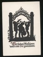 GERMANIA  ANNI 60 ILLUSTRATORE NON CLASSIFICATO - MUSICISTI . FORMATO GRANDE (10) SILHOUETTE - Siluette