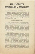 Action Française Tract Et Bulletin D'adhésion Année 1920 Pro Royaliste 4 Pages + Bulletin D'adhésion - Unclassified