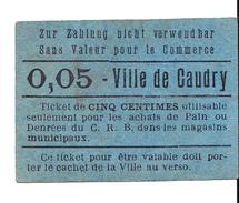 Bon 5c Ville De CAUDRY 14-18 - Bons & Nécessité
