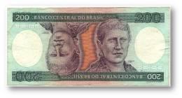 BRASIL - 200 CRUZEIROS - ND ( 1981 ) - P 199.a - Sign. 20 - Serie 1935 - Princesa Isabel - Brasile
