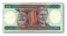 BRASIL - 200 CRUZEIROS - ND ( 1981 ) - P 199.a - Sign. 20 - Serie 1935 - Princesa Isabel - Brazil