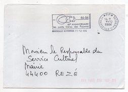 MARSEILLE SAINT FERREOL-13--1986--cachet Mécanique Flamme (40°Anniv Pts Frères Pauvres ) Mention P.P.-sur Lettre - Postmark Collection (Covers)