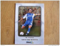 CALCIO 2000 Top Champions Gabriel Batistuta Trading Cards Football Italia Italie Carte Collection - Trading Cards