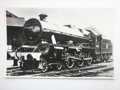 Postcard Jubilee Class [ Steam ] Engine 45648 Wemyss ? British Railways Photo By Sweetman Domino RP  My Ref B1585 - Trains