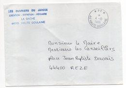 """Cachet Manuel HAUTE-GOULAINE--44--1986--Mention P.P --sur Lettre Pers.""""Ouvriers Du Jardin"""" - Marcophilie (Lettres)"""