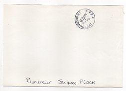 Cachet Manuel  BLERANCOURT--02--1986--Mention P.P --sur Fragment De Lettre - Marcophilie (Lettres)