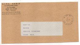 Cachet Manuel  SAVENAY--44--1985--Mention P.P --sur Fragment De Lettre Pers.SARL  CAMIN---44 MALVILLE - Marcophilie (Lettres)