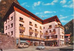 Antey Saint André Hotel Pession Ristorante Bar - Auto Cars Voitures FIAT 500 + Altre; Animata - Italia