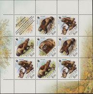 Russia, 2004, Mi. 1198-1201, Y&T 6820-23, Sc. 6857, SG 7288-91, WWF, Wolverine, MNH - W.W.F.