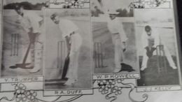 VERY OLD 1905  POSTCARD / CRICKET - V.TRUMPER - RA. DUFF - W.P.HOWELL - J.J. KELLY / With POST STAMP Posted 1905 - Cricket