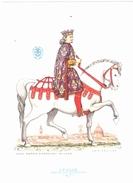 CARTOLINA    CAVALIERI D' OGNI TERRA -  ITALIA - GENTILUOMO FIORENTINO - 1475          NON VIAGGIATA - Historia