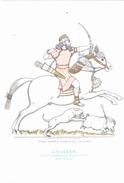 CARTOLINA    CAVALIERI D' OGNI TERRA - ASSIRIA - RE ASSURBANIPAL ALLA CACCIA - 668-626 A.C.          NON VIAGGIATA - Histoire