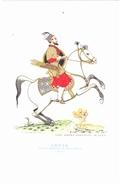 CARTOLINA    CAVALIERI D' OGNI TERRA - INDIA - CAPO D' ESERCITO DI SCIAH GEHAN  - 1650          NON VIAGGIATA - Historia