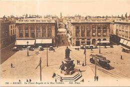 REIMS - 51 - La Place Royale Et La Rue Colbert - - AUT2  - - Reims