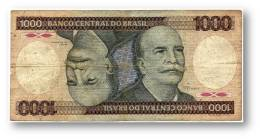 BRASIL - 1000 CRUZEIROS - ND ( 1981 ) - P 201.a - Serie 1295 - Sign. 20 - Prefix A - Barão Do Rio Branco - Brasil