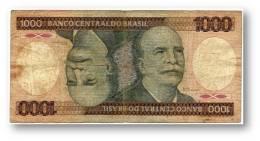 BRASIL - 1000 CRUZEIROS - ND ( 1981 ) - P 201.a - Serie 4092 - Sign. 20 - Prefix A - Barão Do Rio Branco - Brazil