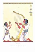 CARTOLINA    RITMI E SUONI - EGITTO - ARPISTA EGIZIANO - 5 SEC. A.C. - REPUBBLICA DEI RAGAZZI          NON VIAGGIATA - History