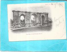 REIMS - 51 - CPA DOS SIMPLE De 1902 - Porte Mars - Arc De Triomphe Romain - AUT2  - - Reims
