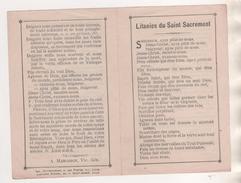 LITANIES DU SAINT SACREMENT SIGNEE A. MARGERIN - IMPRIMERIE DUYTSCHAEVER LILLE, LIBRAIRIE STOFFEL LILLE - A VOIR - Images Religieuses