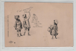 Illustrateur Marchand Rue Du Renard Paris No 6 Paul Dufresne Enfants Noel - Künstlerkarten