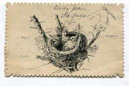 CPA Fantaisie  : Nid D'oiseaux Pour Paques     VOIR  DESCRIPTIF  §§§ - Autres