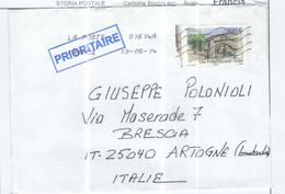 Francia Busta  Viaggiata Francia Italia  2014  Priority. 2014 See Scan - 1961-....