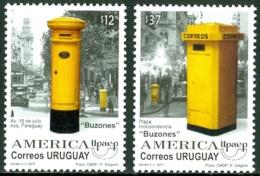 URUGUAY 2011 AMERICA-UPAEP, MAIL BOXES** (MNH) - Uruguay