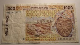 2001 ND - Afrique De L'Ouest - West African States - Sénégal - 1000 FRANCS - K - 01038375776 - Banconote