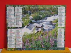 Calendrier Oller > Mont Rainier États Unis/Cascades De Krka Croatie - Almanach Facteur 2015 Comme Neuf - Calendriers