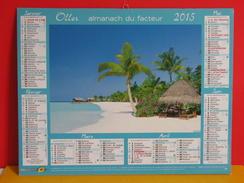 Calendrier Oller > Maldives - Les Seychelles - Village Et Montagne Suisse - Almanach Facteur 2015 Comme Neuf - Kalenders