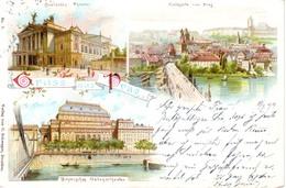 BOHEMIA CZECZHOSLOVAKIA PRAG 1899 VERY NICE LITHO POSTCARD - República Checa